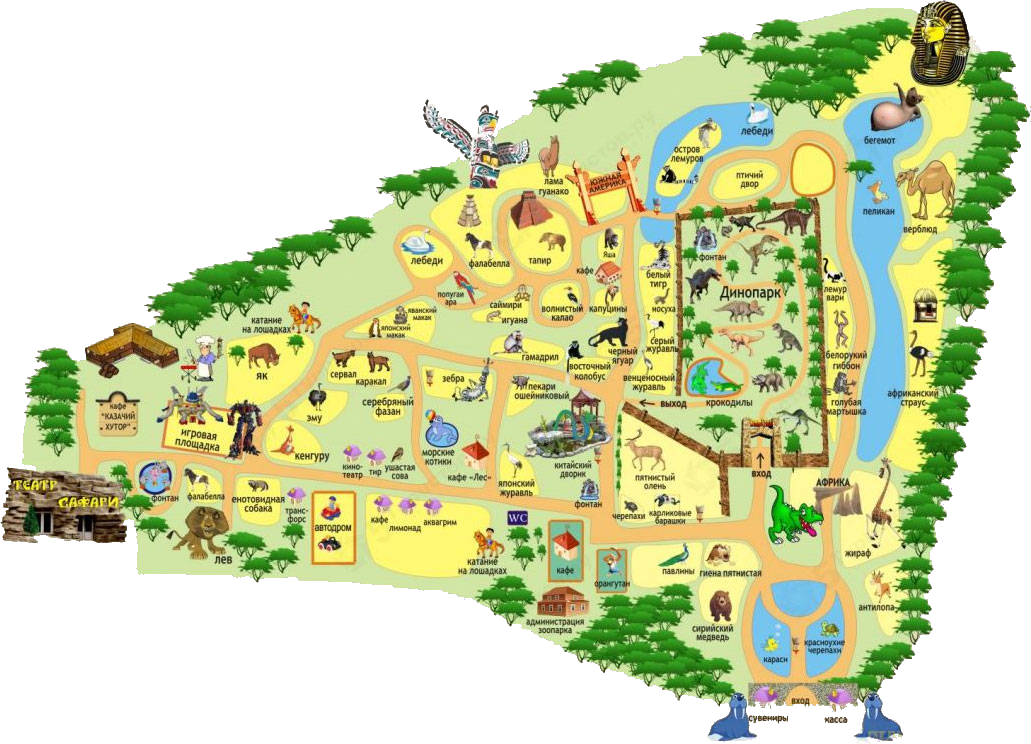 The Map Of Krasnodar Safari Park In Krasnodar Russia